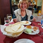 fantastic indian food /with a very nice lady