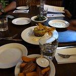 appetizers, potato wedges, kale