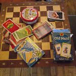 HAVERHILL, MA - UNO - GAME BOARD WITH OLD MAID & OTHER GAMES