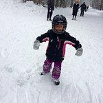 My granddaughter having fun