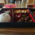 Lunch bento special, rendang curry and ribs.
