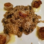 Sea Scallops with Mushroom Risotto
