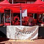 """Outside Food/Drink Stand for """"Plum"""" Cafe during CubaDupa Festival"""