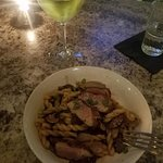 Duck breast and wine