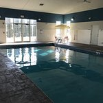 There is a decent-sized swimming pool and a small hot tub.