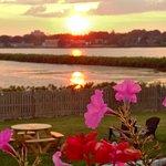 Sunset over Easton Pond