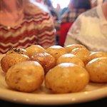 Potatoes ... remember no utensils.....