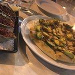 Avocado pane & Oyster killpatrick