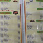 Menu card which can be zoomed