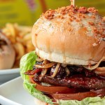 Black Cherry & Bourbon Burger