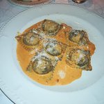 squid in ravioli filled with shellfish