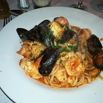 piping hot, fresh, seafood pasta