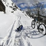 Easier down than up in the snow ;-)