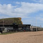 The Watchhouse Cafe from the beach