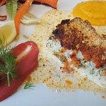 Crumble de de dos de cabillaud au tomates confites et parmesan