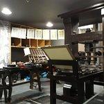 Nachbildung einer Buchdruckpresse (funktionstüchtig)