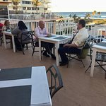 The start of the networking event with the ocean in the background