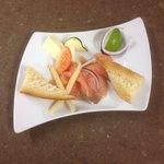 l'assiette de saumon fumée