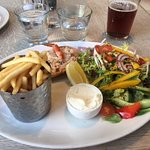 Look at that lovely salad! Sorry about pc - but splendid dressed crab is hiding