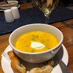 Butternut, Chilli and Coconut soup! Amazing at the restaurant!