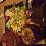 Mont d'oriflette: salade+brésille+pomme de terre au Mont d'or