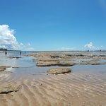 Praia do Mucugê na maré bem baixa