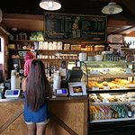 Where you pay and order coffee and pastries.