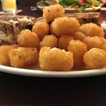 Sandwich and tots, yum!