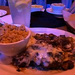 The Road Kill entree with rice