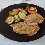 Grilled Turkey Breast with grilled vegetables