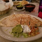 Chicken Quesadilla - not as good as it looked