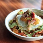Chilaquiles - available during brunch on Saturday & Sunday.