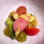 Surtido de tomates y su sorbete