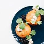 Vegetable // truffled mushroom bao + porcini aioli + black puffed rice
