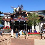 front of World of Disney in Disney Springs