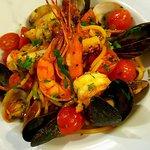 Linguine with sea food