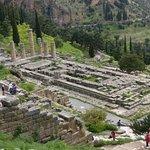 The tempe of Apollo at Delphi