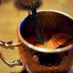 Our Porkkana Muuli drink, yummy!