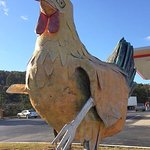 The Big Chicken on the parkway in front of the Shady Lawn Truck Stop