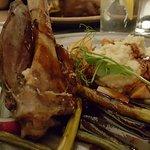 Lamb shank at dinner