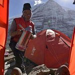 tea or coffe at your door step with an magnificent view of Dhaulagiri