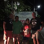 A little Boshkung Brewery shout out with Chencho and his wife in Troncones!