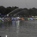 Illumination and fountains at Kankaria Lake