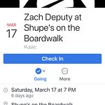 Shupe's facebook event for St Patricks Day
