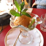 Apricot ice cream or sorbet at Le Dahu