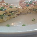 Blue crab and avocado omelet