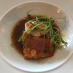 Pan fried red mullet with fennel and broth - divine!