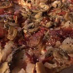 Serra's Supreme Pizza loaded w/Provel