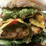 Chicken Fajita Burger