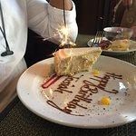 complementary slice of birthday cake